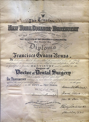 diploma of dental surgery